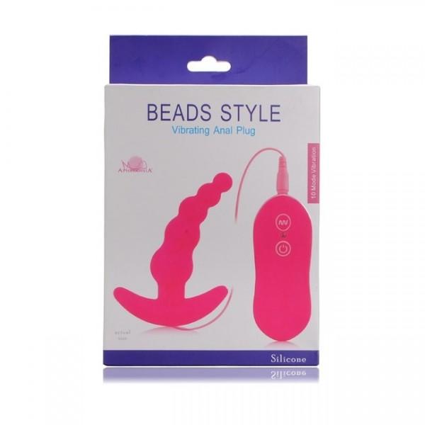 APhrodisiA - Beads Style Vibrating Anal Plug