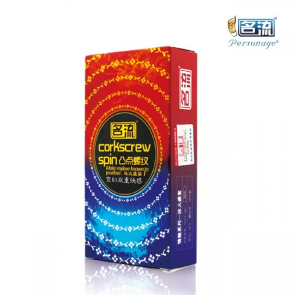 Personage - Corkscrew Spin Multi Feel Condom 10 Pieces