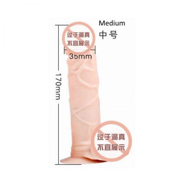 "SexBy's - 17.0cm (6""5/8), Dia.3.5cm Realistic Dildo PL017"