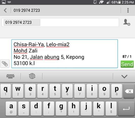 Order by sms, whatapps, wechat