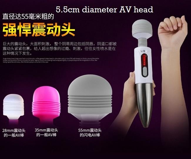 5.5cm diameter av head